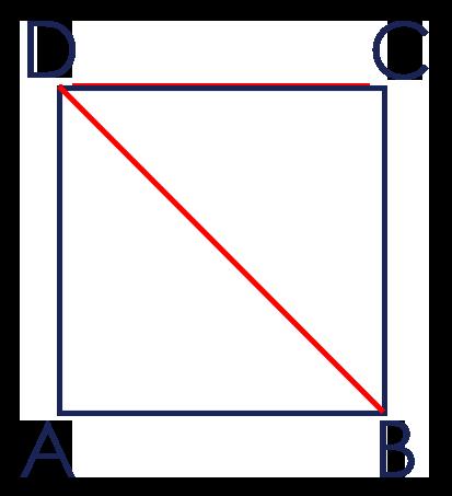Diagonale Quadrat