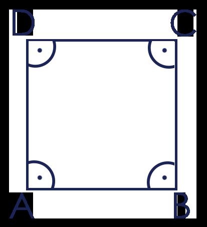 Rechte Winkel im Quadrat