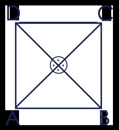 Diagonalen im Quadrat